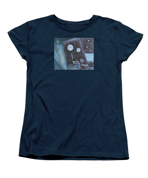 Women's T-Shirt (Standard Cut) featuring the painting What To Say? by Min Zou