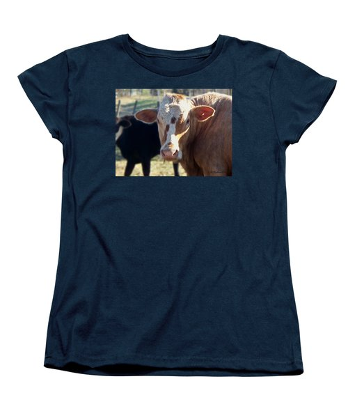 Women's T-Shirt (Standard Cut) featuring the photograph What You Lookin' At by Betty Northcutt
