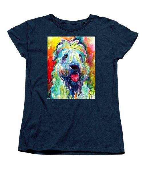 Wheaten Terrier Dog Portrait Women's T-Shirt (Standard Cut) by Svetlana Novikova