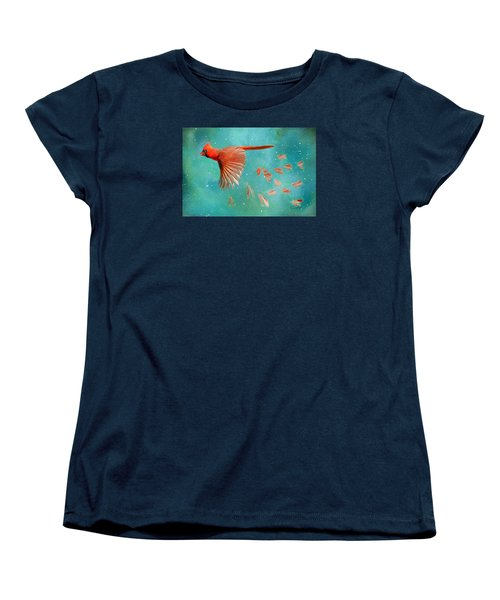 When Feathers Fly II Women's T-Shirt (Standard Cut) by Colleen Taylor