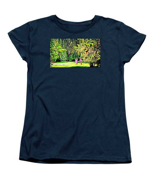 Women's T-Shirt (Standard Cut) featuring the photograph When We Were Young II by Barbara Dudley