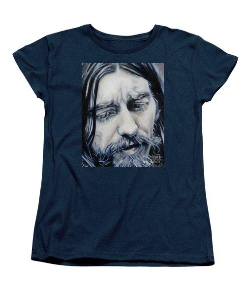 While My Guitar Women's T-Shirt (Standard Cut) by Rebecca Glaze
