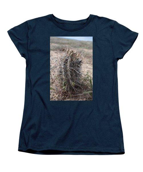 Women's T-Shirt (Standard Cut) featuring the photograph Whipple's Fishook Cactus by Jenessa Rahn