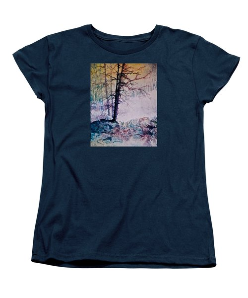 Women's T-Shirt (Standard Cut) featuring the painting Whispers In The Fog by Carolyn Rosenberger