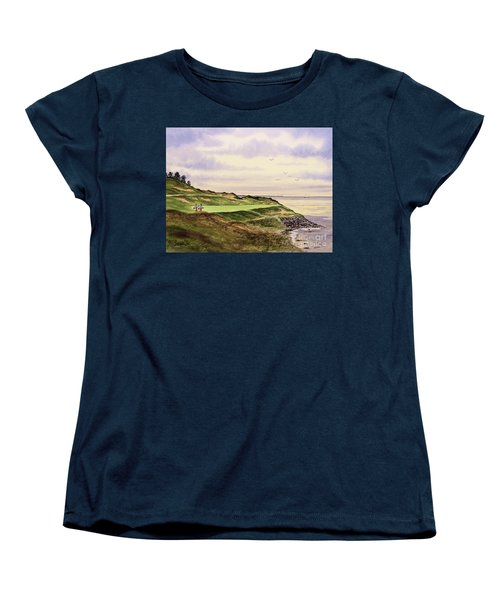 Whistling Straits Golf Course Hole 7 Women's T-Shirt (Standard Cut) by Bill Holkham