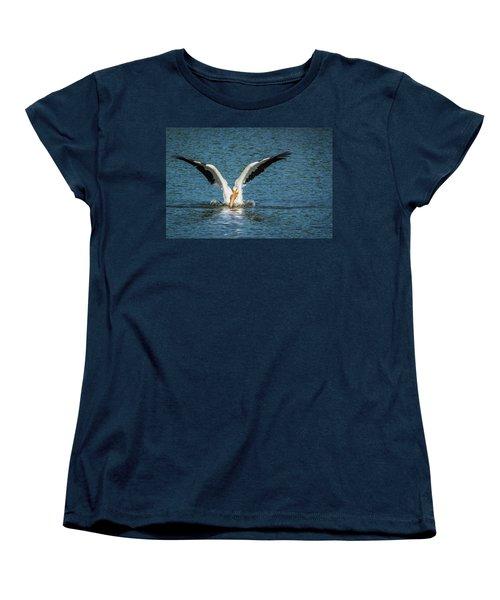 White American Pelican Women's T-Shirt (Standard Cut) by Pamela Williams