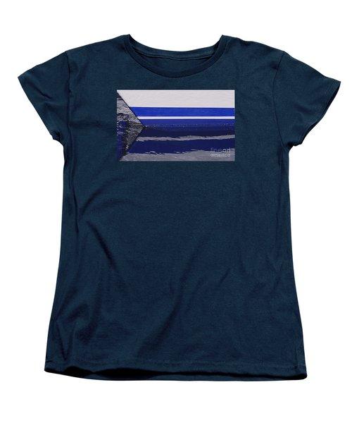 White And Blue Boat Symmetry Women's T-Shirt (Standard Cut) by Danuta Bennett