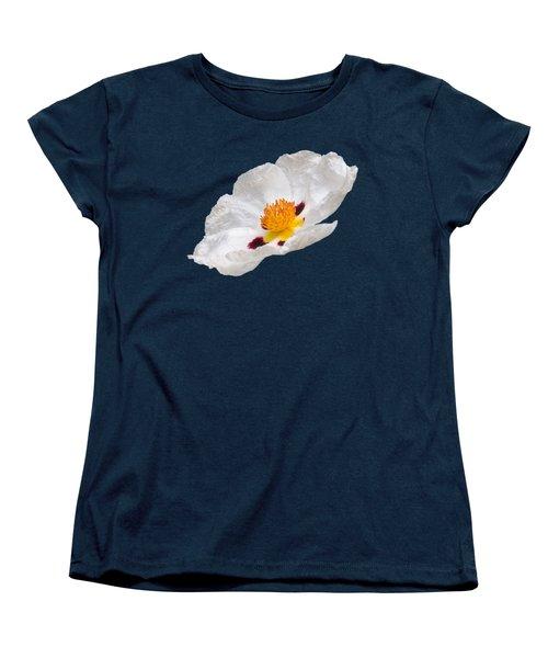 White Cistus Women's T-Shirt (Standard Cut) by Gill Billington