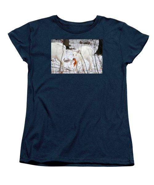 White Deer With Squash 5 Women's T-Shirt (Standard Cut) by Brook Burling