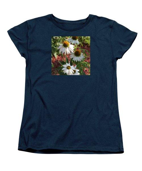 White Echinacea In Pastel Women's T-Shirt (Standard Cut) by Suzanne Gaff