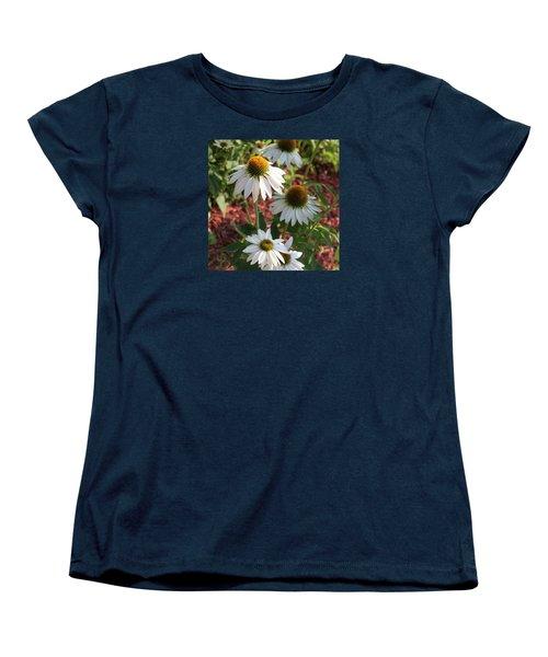 White Echinacea Women's T-Shirt (Standard Cut) by Suzanne Gaff