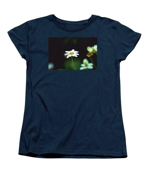 White Flower Women's T-Shirt (Standard Cut) by Hyuntae Kim