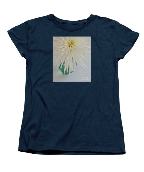 White Flower In A Vase By Jasna Gopic Women's T-Shirt (Standard Cut) by Jasna Gopic