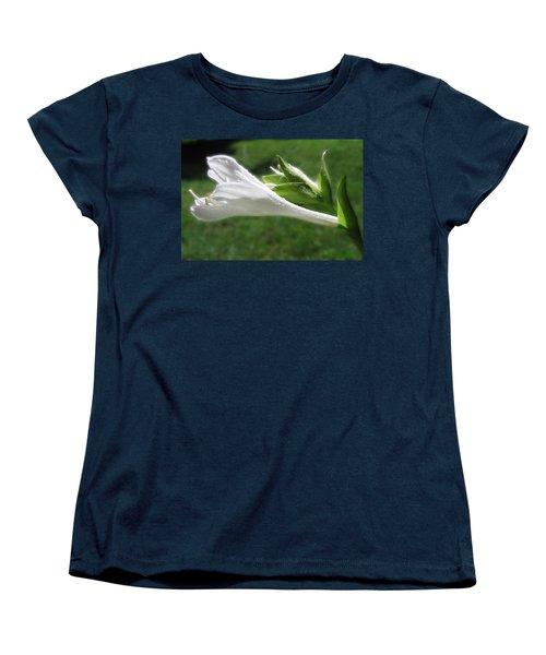 Women's T-Shirt (Standard Cut) featuring the photograph White Hosta Flower 46 by Maciek Froncisz