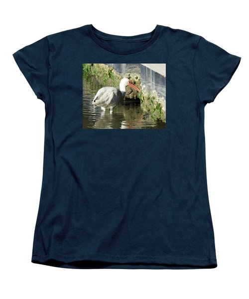 Women's T-Shirt (Standard Cut) featuring the photograph White Ibis Headed Home by George Randy Bass