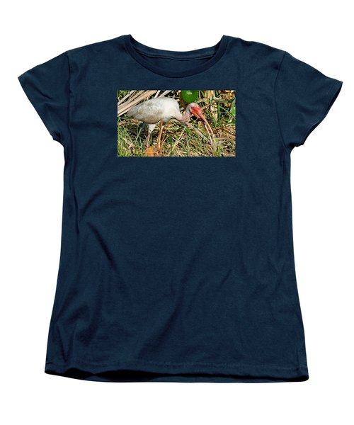 White Ibis With Crayfish Women's T-Shirt (Standard Cut)