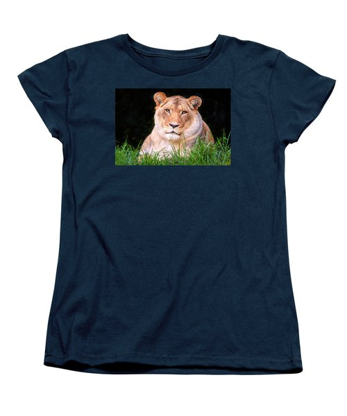 Women's T-Shirt (Standard Cut) featuring the photograph White Lion by Alexey Stiop