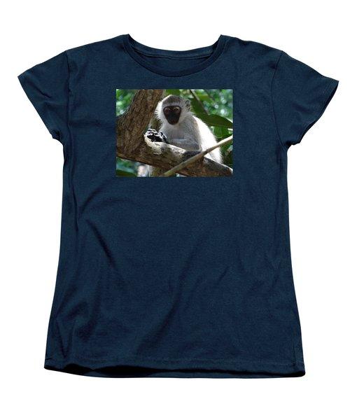 White Monkey In A Tree 4 Women's T-Shirt (Standard Fit)