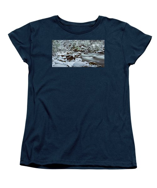White On Green Women's T-Shirt (Standard Cut) by Mark Lucey