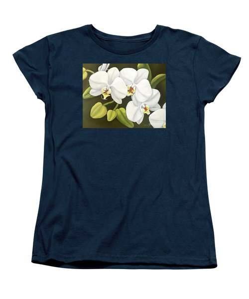 White Orchid Women's T-Shirt (Standard Cut) by Inese Poga