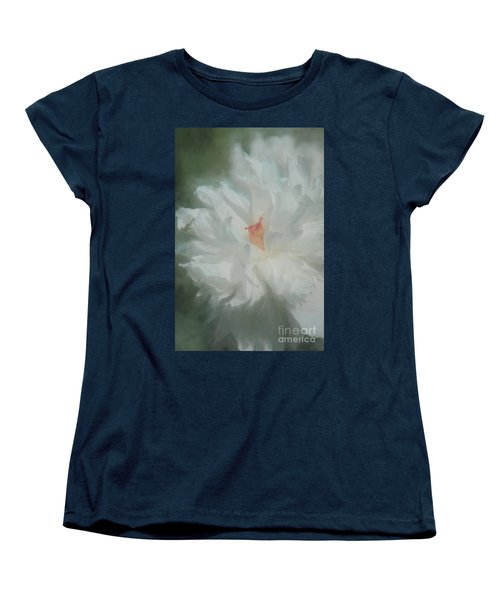 Women's T-Shirt (Standard Cut) featuring the photograph White Peony by Benanne Stiens