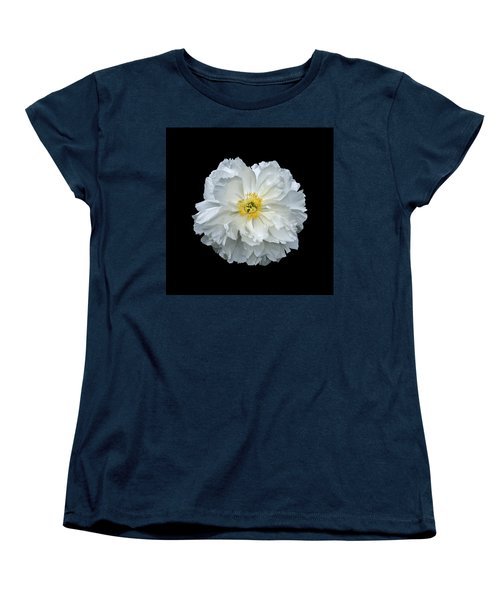 White Peony Women's T-Shirt (Standard Cut) by Charles Harden