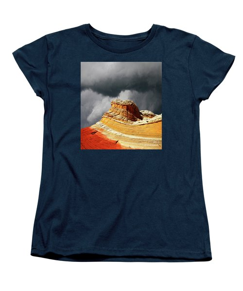 Women's T-Shirt (Standard Cut) featuring the photograph White Pocket 35 by Bob Christopher