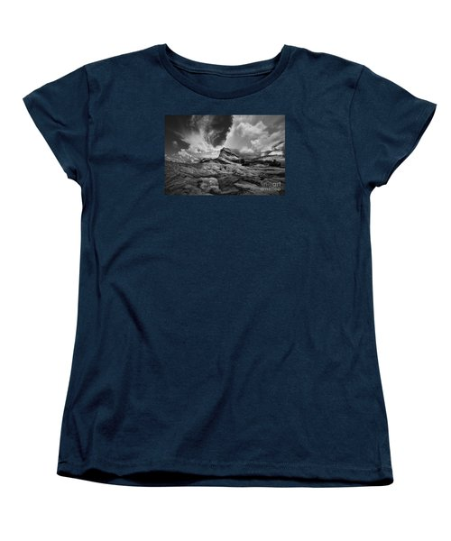 White Pocket - Black And White Women's T-Shirt (Standard Cut) by Keith Kapple