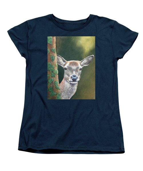 White Tail Doe At Ancon Hill Women's T-Shirt (Standard Cut) by Ceci Watson