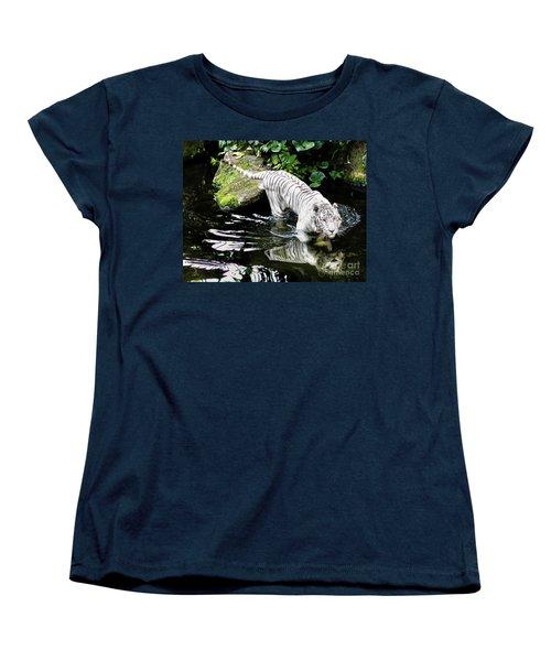 White Tiger Women's T-Shirt (Standard Cut) by M G Whittingham