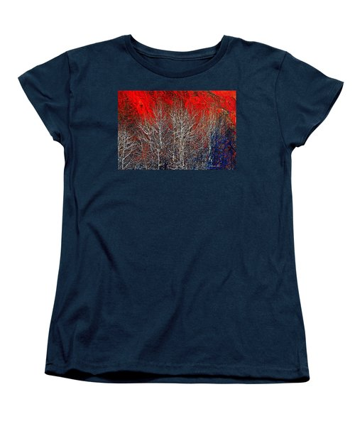 White Trees Women's T-Shirt (Standard Cut)