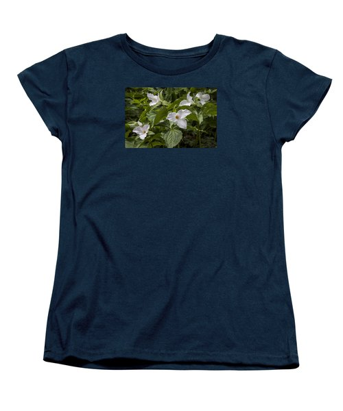 White Trillium Women's T-Shirt (Standard Cut) by Tyson and Kathy Smith