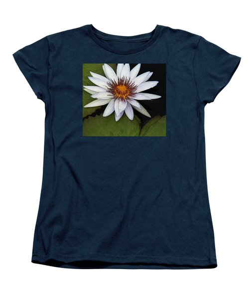 White Water Lily Women's T-Shirt (Standard Cut) by Yvonne Wright