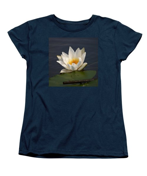 Women's T-Shirt (Standard Cut) featuring the photograph White Waterlily 1 by Jouko Lehto