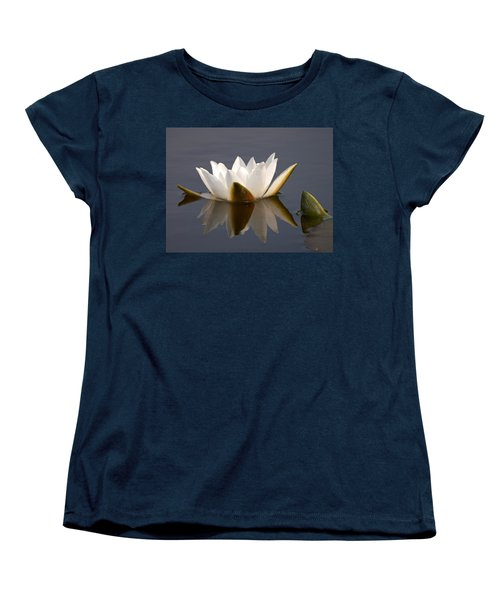 Women's T-Shirt (Standard Cut) featuring the photograph White Waterlily 2 by Jouko Lehto