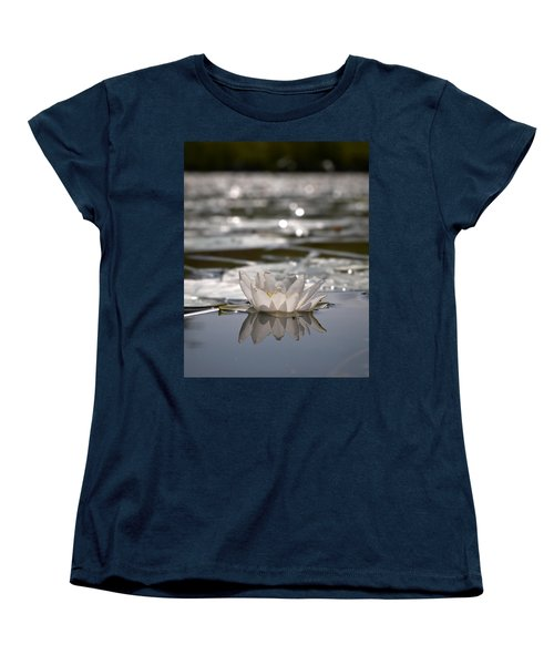 Women's T-Shirt (Standard Cut) featuring the photograph White Waterlily 3 by Jouko Lehto
