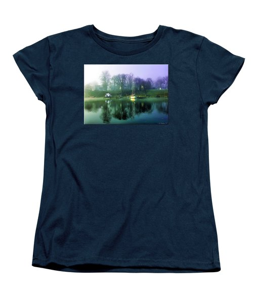 Women's T-Shirt (Standard Cut) featuring the photograph White's Cove Awakening by Brian Wallace