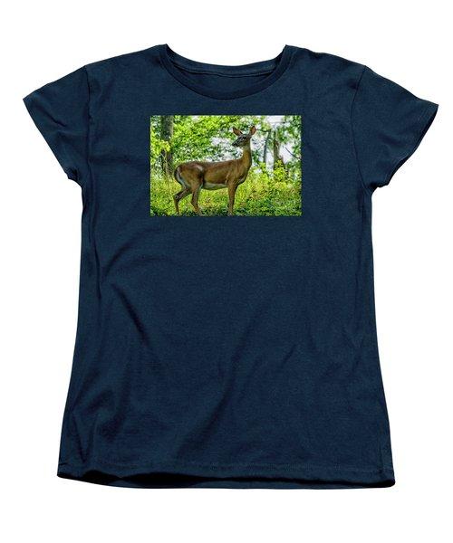 Women's T-Shirt (Standard Cut) featuring the photograph Whitetail Deer  by Thomas R Fletcher