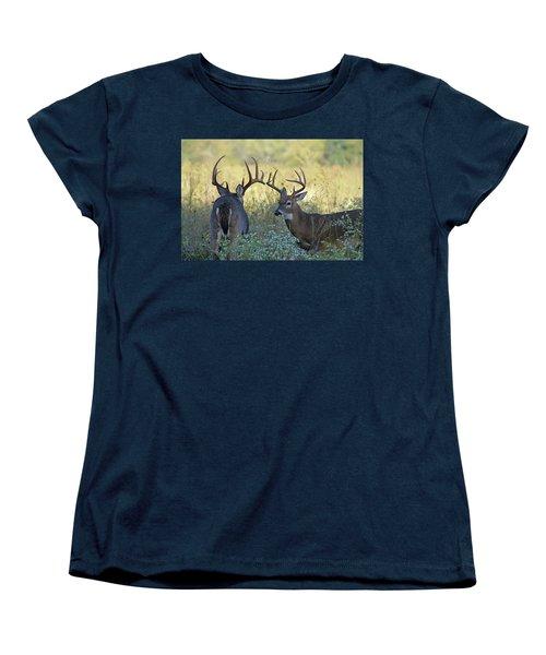 Whitetail Standoff Women's T-Shirt (Standard Cut) by TnBackroadsPhotos