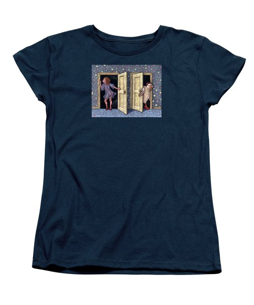 Who's There Women's T-Shirt (Standard Cut) by Holly Wood
