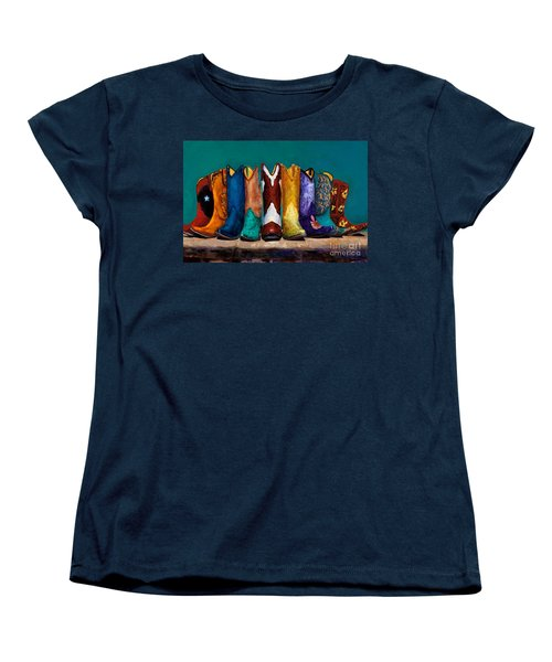 Why Real Men Want To Be Cowboys 2 Women's T-Shirt (Standard Cut) by Frances Marino