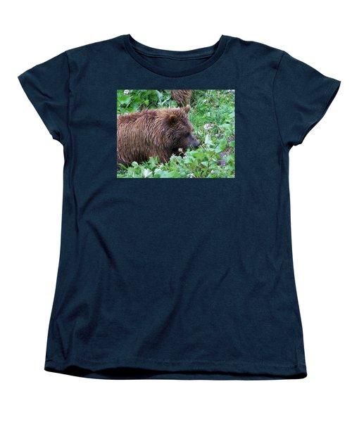 Wild Bear Eating Berries  Women's T-Shirt (Standard Cut)