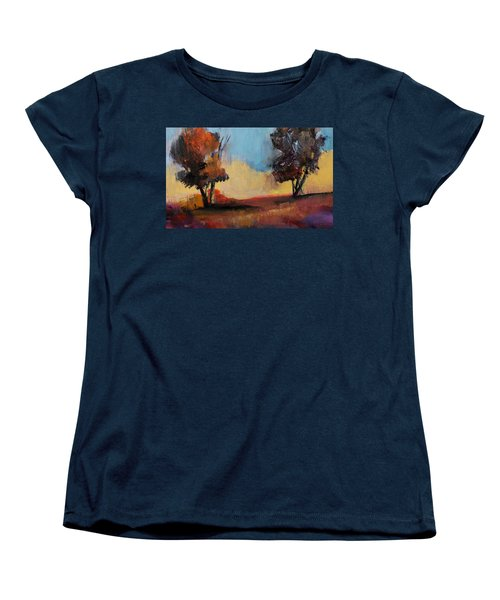 Wild Beautiful Places Trees Landscape Women's T-Shirt (Standard Cut) by Michele Carter