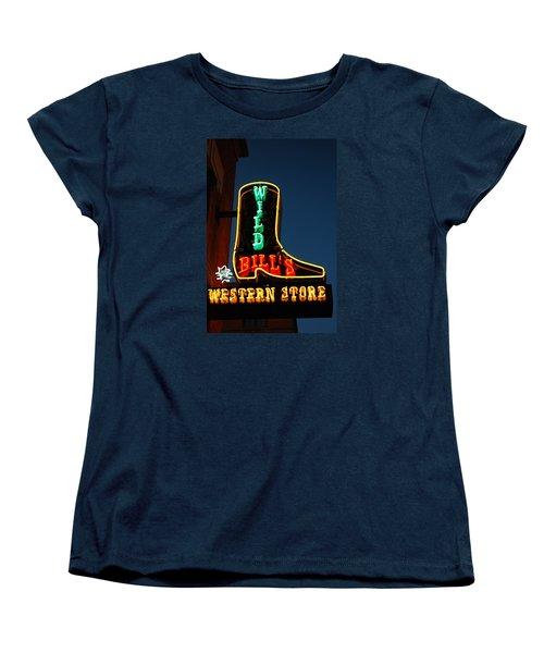 Wild Bills Western Store Women's T-Shirt (Standard Cut) by James Kirkikis