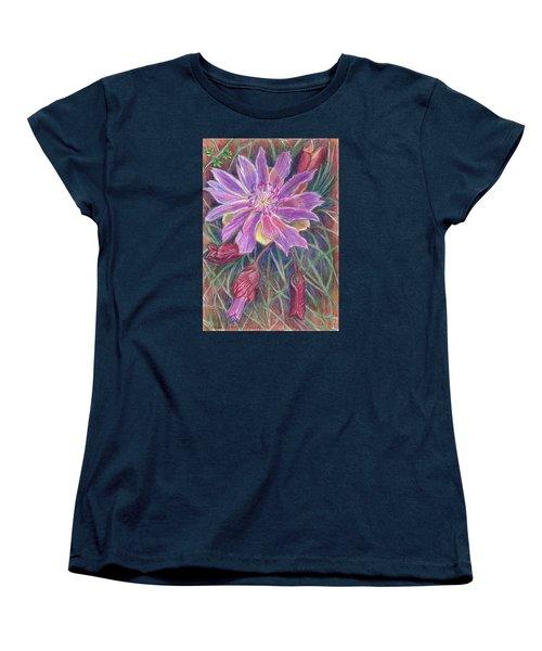 Wild Bitterroot Flower Women's T-Shirt (Standard Cut) by Dawn Senior-Trask