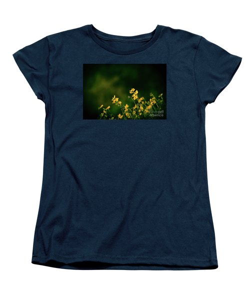 Women's T-Shirt (Standard Cut) featuring the photograph Evening Wild Flowers by Kelly Wade