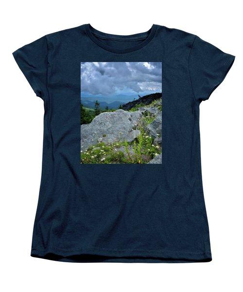 Wild Mountain Flowers Women's T-Shirt (Standard Cut) by Steve Hurt