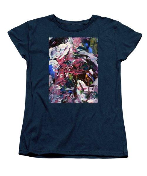 Wild Orchid Abstract Women's T-Shirt (Standard Cut) by Erika Pochybova
