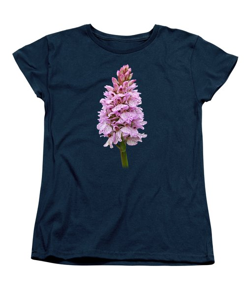 Wild Pink Spotted Orchid Women's T-Shirt (Standard Cut) by Gill Billington