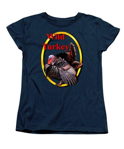 Wild Turkey Women's T-Shirt (Standard Cut) by John Furlotte